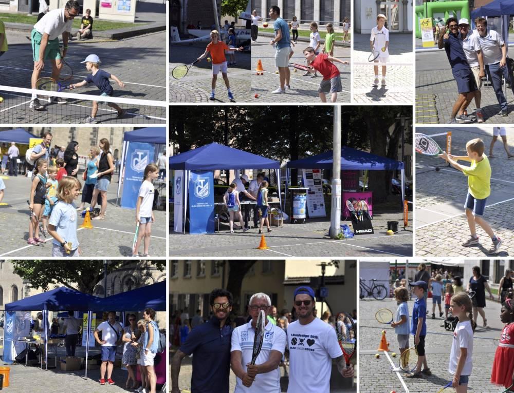 Der TC Blau-Weiss Neuss präsentiert sich auf dem ersten City-Familien-Sport-Tag!