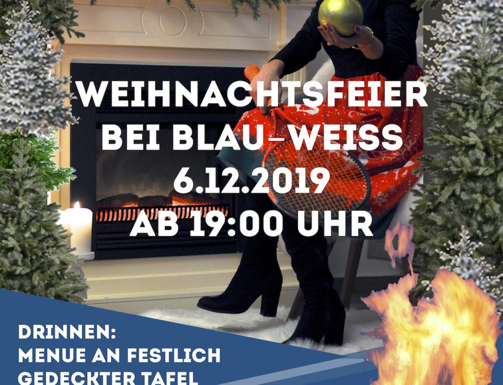 Weihnachtsfeier beim TC Blau-Weiss Neuss