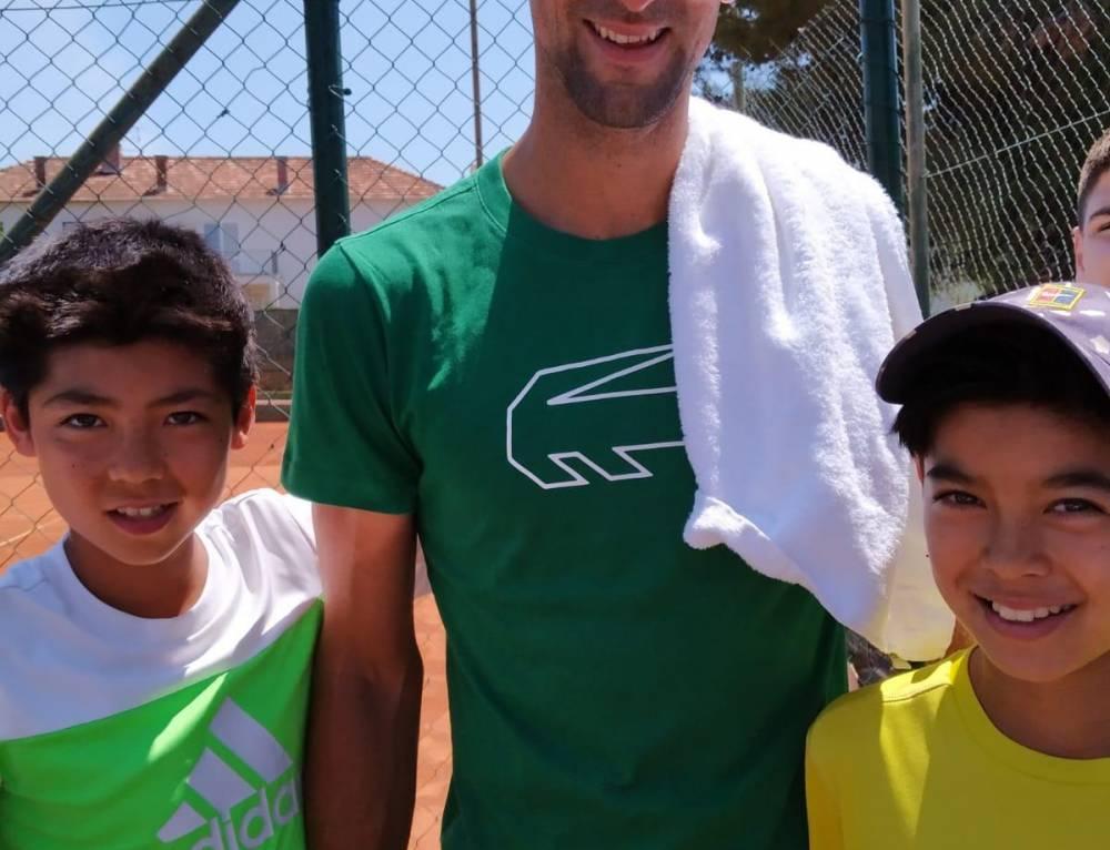 Schöne Erinnerung mit Novak Djokovic